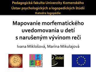 Mapovanie morfematického uvedomovania u detí  s narušeným vývinom reči