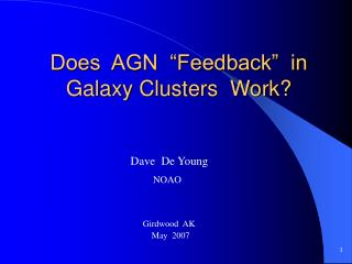 "Does  AGN  ""Feedback""  in Galaxy Clusters  Work?"