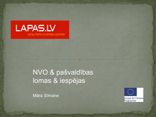 NVO & pašvaldības lomas & iespējas Māra Sīmane