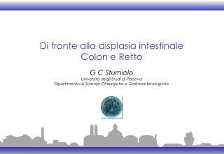 Di fronte alla displasia intestinale Colon e Retto