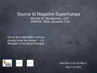 Source to Negative Superhumps