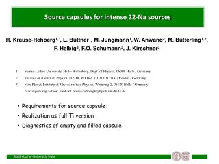 Source capsules for intense 22-Na sources