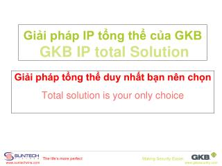 Giải pháp IP tổng thể của GKB GKB IP total Solution