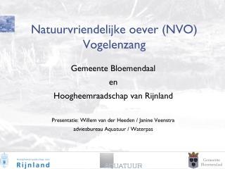 Natuurvriendelijke oever (NVO) Vogelenzang