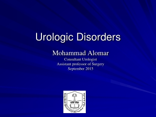Urologic Disorders
