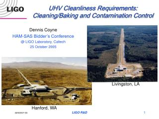 UHV Cleanliness Requirements: Cleaning/Baking and Contamination Control