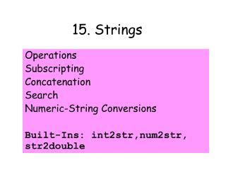 15. Strings