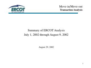 Move-in/Move-out Transaction Analysis