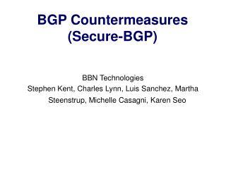BGP Countermeasures Secure-BGP
