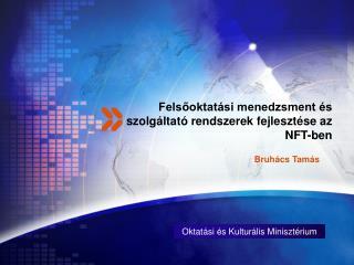 Felsőoktatási menedzsment és szolgáltató rendszerek fejlesztése az NFT-ben