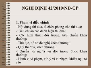 NGH? ??NH 42/2010/N?-CP