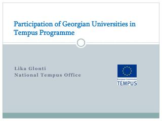 Participation of Georgian Universities in Tempus Programme