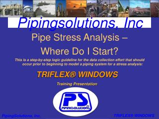 Pipingsolutions, Inc