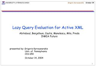 Lazy Query Evaluation for Active XML