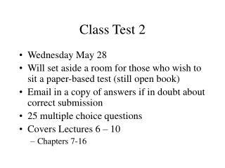 Class Test 2