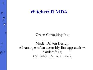 Witchcraft MDA