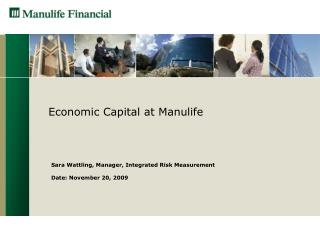 Economic Capital at Manulife