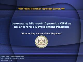 Leveraging Microsoft Dynamics CRM as an Enterprise Development Platform