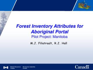 Forest Inventory Attributes for Aboriginal Portal Pilot Project: Manitoba