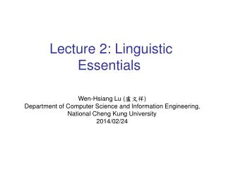 Wen-Hsiang Lu ( 盧文祥 ) Department of Computer Science and Information Engineering,
