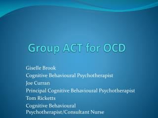Group ACT for OCD