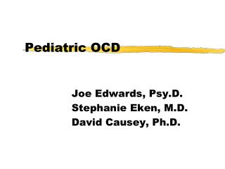 Pediatric OCD