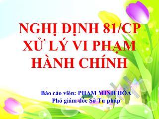 NGH? ??NH 81/CP X? L� VI PH?M H�NH CH�NH