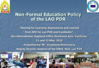 Non-Formal Education Policy                 of the LAO PDR