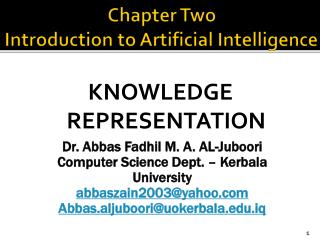 Chapter Two  Introduction to Artificial Intelligence