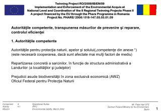 Autorităţile competente ,  transpunerea măsurilor de prevenire şi reparare ,  controlul eficienţei