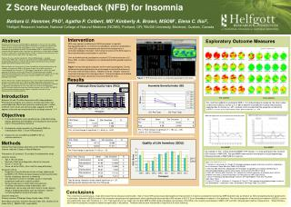 Z Score Neurofeedback (NFB) for Insomnia