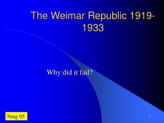 The Weimar Republic 1919-1933