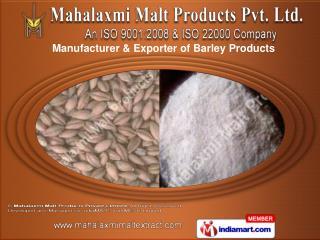 Barley Products by Mahalaxmi Malt Products