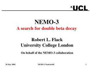 NEMO-3 A search for double beta decay