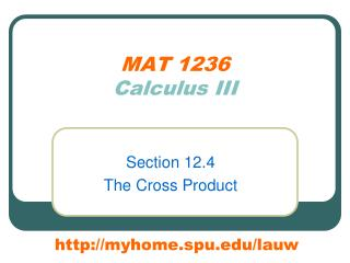 MAT 1236 Calculus III