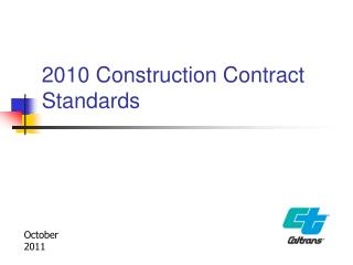 2010 Construction Contract Standards