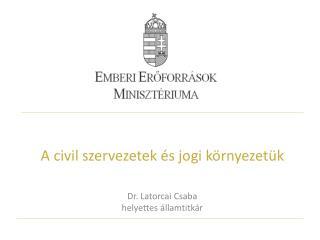 A civil szervezetek �s jogi k�rnyezet�k