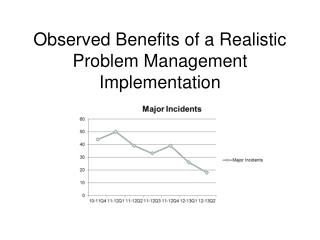 Observed Benefits of a Realistic Problem Management Implementation