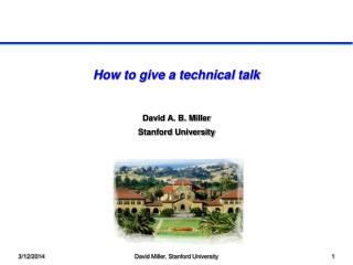 How to give a technical talk