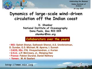 Dynamics of large-scale wind-driven circulation off the Indian coast