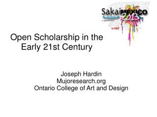 Open Scholarship in the Early 21st Century