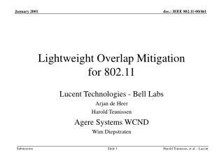 Lightweight Overlap Mitigation  for 802.11