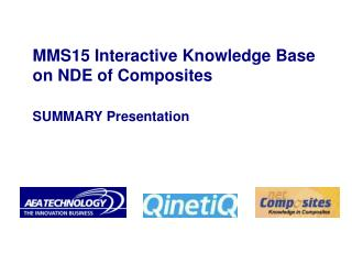 MMS15 Interactive Knowledge Base on NDE of Composites SUMMARY Presentation