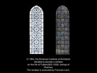 In 1954, the American Institute of Architects  decided to provide a window