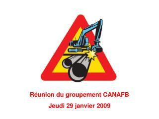 Réunion du groupement CANAFB Jeudi 29 janvier 2009