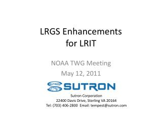 LRGS Enhancements  for LRIT