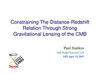 Constraining The Distance-Redshift Relation Through Strong Gravitational Lensing of the CMB