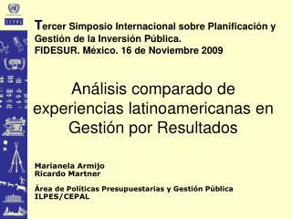 Análisis comparado de experiencias latinoamericanas en Gestión por Resultados