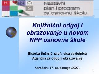 Knjižnični odgoj i obrazovanje u novom NPP osnovne škole
