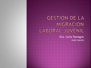 gestión de la migración laboral juvenil